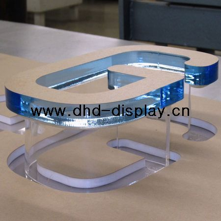 clear acrylic cut out letter plastic shop sign