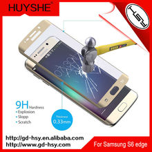 HUYSHE Mobile Phone Use 3D tempered glass screen protector samsung galaxy s6 edge