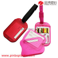 Luggage Tag in bulk for business promotion,Custom hard plastic bag tag,Plastic Luggage Tag