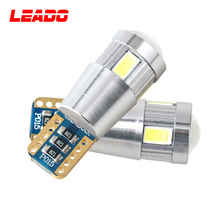 Wide Voltage 10V - 30V T10 6 Smd 5630 Led Bulb Light T10 158 192 168 194 Car Side Marker