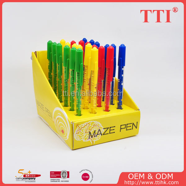 New design for maze ballpoint pen with display