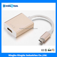 gold metal type c to hdmi adaptor support 4K*2K,3D