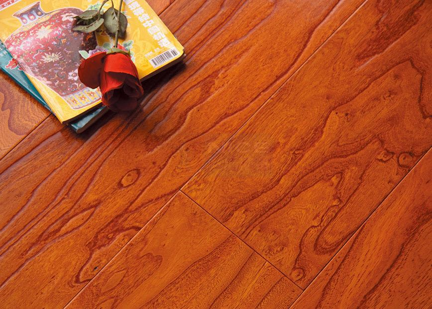 Elm multi-layer engineered wood floor 15mm hot sell manufacturer ABC grade red color