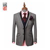 Formal Dress Warm Grey Slim Fit Tuxedos Men Suit Peaked Lapel