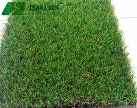 Flat shape synthetic grass for garden