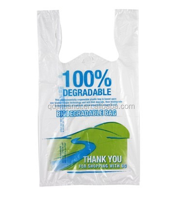 Wholesale best price degradable plastic shopping bag compost t-shirt shopping bag