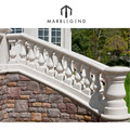 white marble stone balcony railing and kingpost