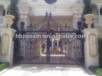hot-dip galvanized wrought iron Gate