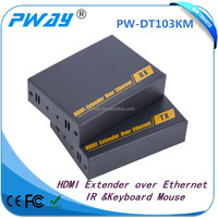 Support IR and TCP/IP hdmi kvm extender with ethernet switch one to many 120m