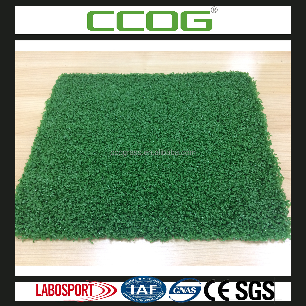 artificial putting grass for golf field curly yarn Tee support uv resistant 8 year service time