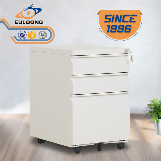 3 drawers mobile pedestal b/b/f file storage cabinet with cheap price