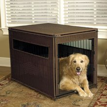 Wicker Pet Residence Custom Indoor Dog house Dog Kennel