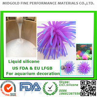 food grade liquid silicone for fish tank aquarium silicone decoration