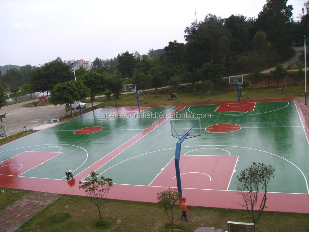 Non-slip PU Sport Court Surface Flooring Basketball Court Oily Top-coat Paint