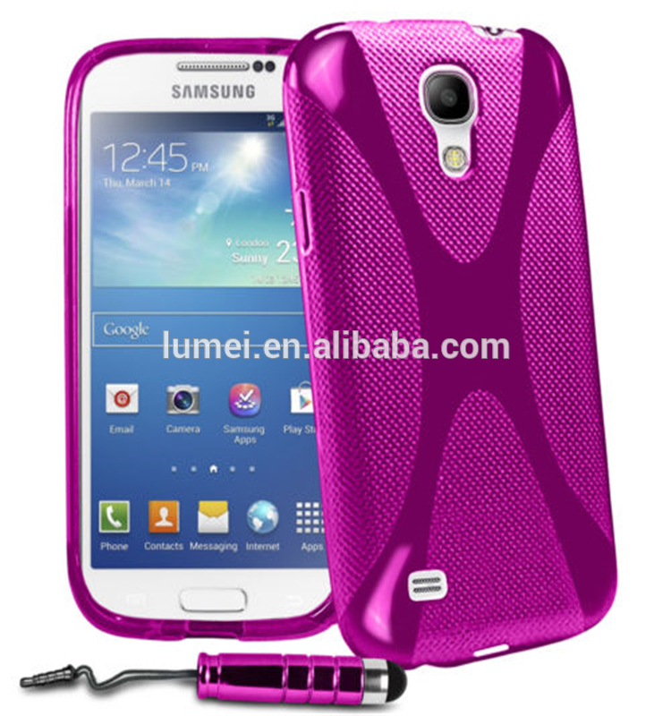 X Line Wave Gel Soft Back Case Cover For Samsung Galaxy S4 Mini Phone cases