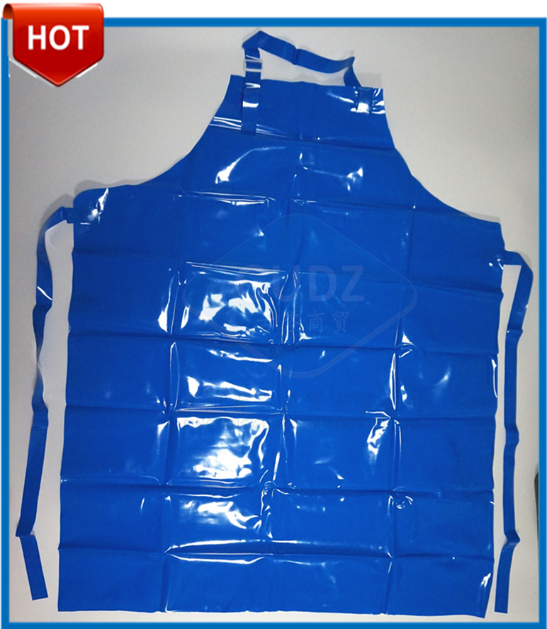 GUDZ-AT01b Anti-oil Food Grade Cut Resistance Blue TPU Butcher Apron