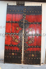 Chinese Antique Shanxi Soild Wood Big Red Garden Door