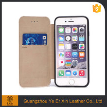 Free sample leather wallet mobile phone case cover for iphone 6 6s 7 plus