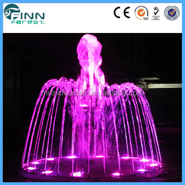 factory supply color changeable portable musical dancing water electric tabletop fountain