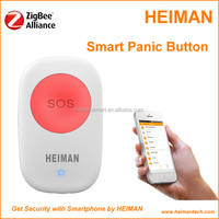 IOT sensor Zigbee security alarm panic button for elder and children