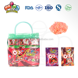 mini fruit flavor popping candy in handbag packing