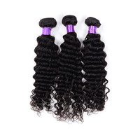 No Shedding Deep Wave Deep Curl Remy Human Hair, Short Deep Wave Wigs