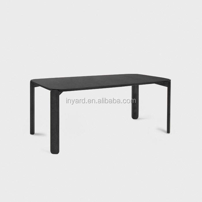 Dinning Design 160*80*74cm Extension Malaysia Model Slab Wood Folding Dining Table