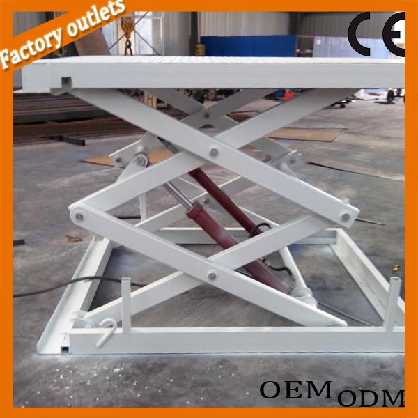 Hydraulic stationary scissor lift for furniture