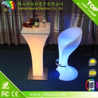 Remote Control Rectangle Party Events Illuminated Cocktail LED Table