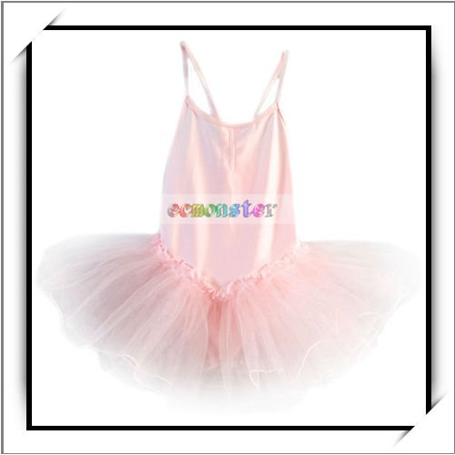 Hot!!! Girls Dance Costumes Ballet Dress Skirt Tutu Pink -F00343