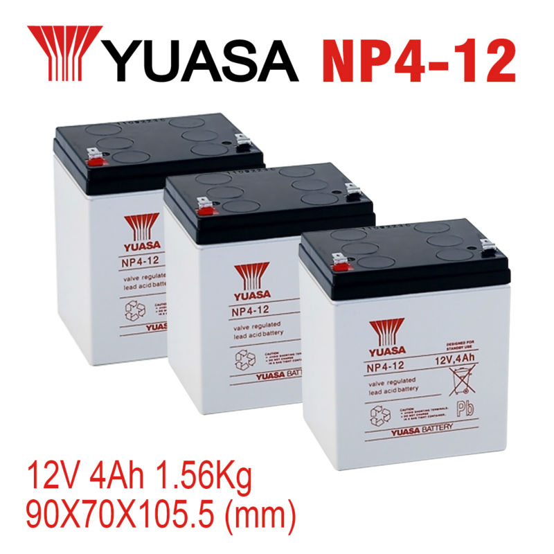 Industrial Rechargeable batteries YUASA NP4-12 lead acid battery
