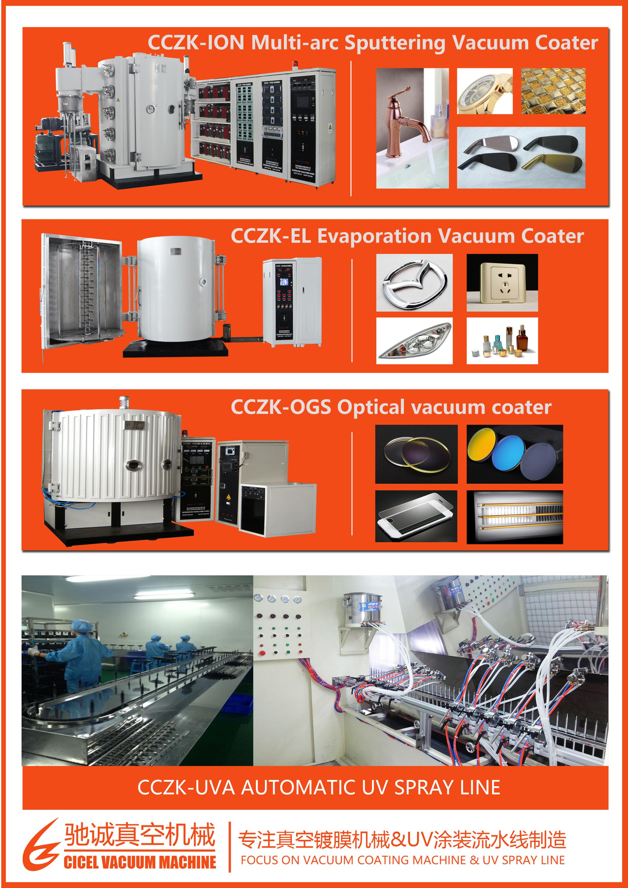 Plastic Auto Parts Vacuum Coating Machine, Aluminum Evaporation Vacuum Metallizing Machine, Silver Coating Equipment