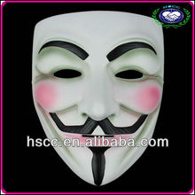 High Quality Halloween Decoration White Resin Mask V for Vendetta/Guy Fawkes Factory 2013