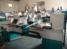 double blades cheap industrial wood lathe for wood