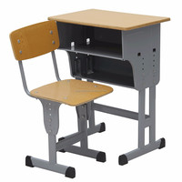 Adjustable height children desk and chair