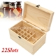 22 Slot Essential Oil Box Portable Multifunctional Wooden Box Jewelry Storage Case Decorative Box Home Decoration Craft
