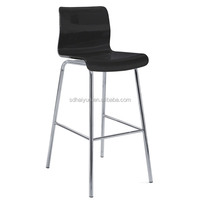Foshan New Plywood High Chair with Chrome Legs