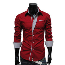 2016 hot new products for 2016 Formal Wear 100% Cotton Long Sleeve turndown collar slim fit Men's Shirt Latest