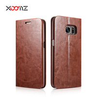 XOOMZ PU Leather Flip Cover for Samsung Galaxy S7