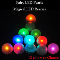Fairy Pearls!!! Orange Magical LED Berries Battery Operated Mini LED Glowing Ball Firefly Fairy LED Light Wedding Party Decorati
