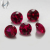 1.4mm man made loose stone polished ruby gemstone