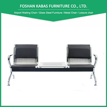 Hot sales PU padding 2 seats bench waiting seat for airport