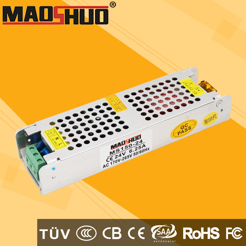 small size led driver 110v dc 12v 24v 6.25A 150w 50 amp 600w power supply 24vdc 150w maoshuo brand