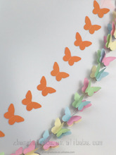 Romantic Butterfly shape wedding and festivals decoration paper garlands