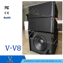 V-V8 Popular High Quality Professional Audio Sound System Double 10'' Speakers Line Array Top Speaker Outdoor Indoor