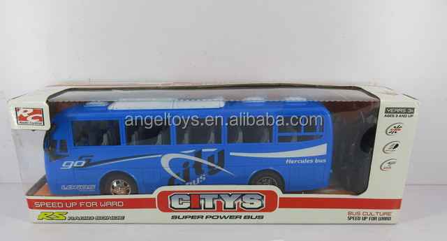 FUNNY KIDS TOY PLASTIC RC BUS-4 CHANNEL