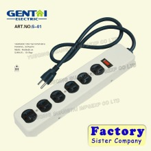 good Quality reliable cheaper Metal Power Strip with 6-Outlets Protection Surge Protector and 2.5ft Cord UL Listed