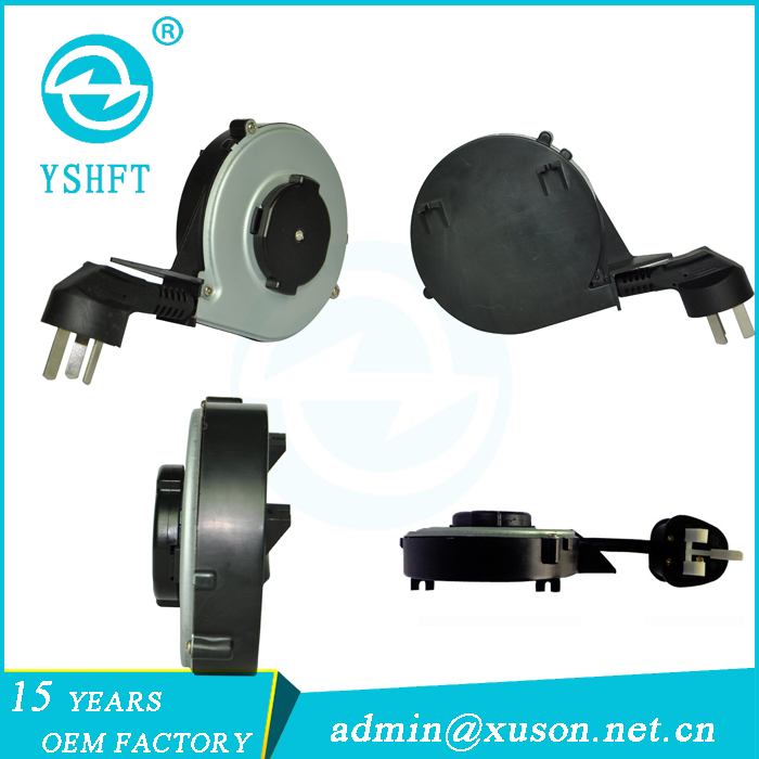 3 core cables retractable electric cord reel auto-rewind cable reel