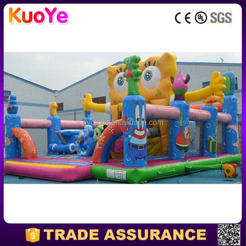 factory price spongbob theme inflatable fun city,inflatable amusement park for sale
