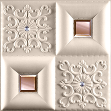 2016 hot product 3D Wall panel for interior decor leather accessories faux interior tile